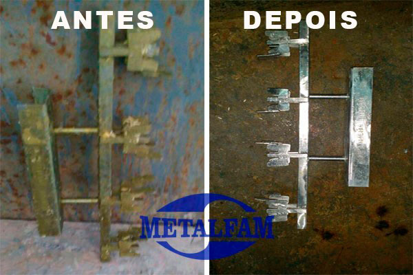Decapagem química de metais
