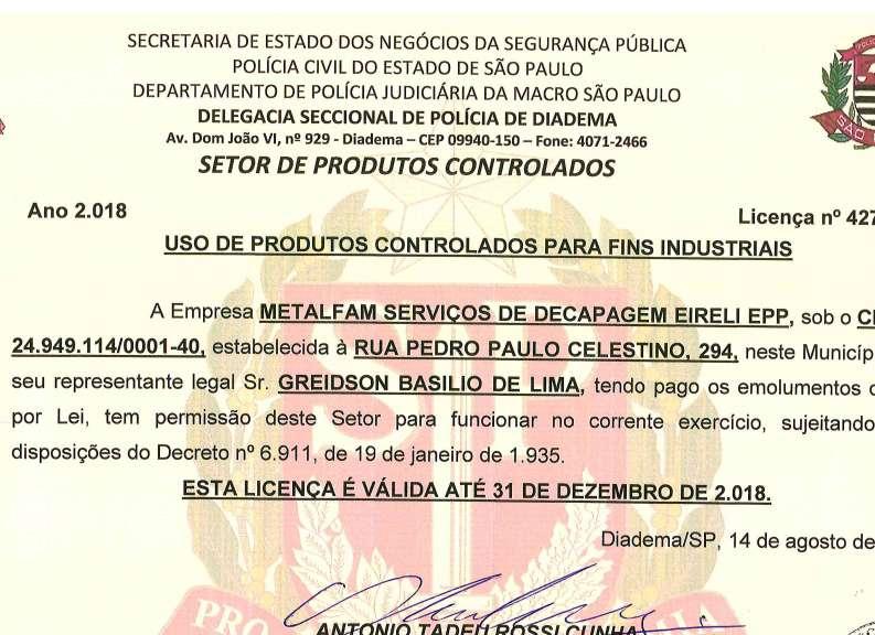 CERTIFICADO PRODUTOS CONTROLADOS 14.08.2018